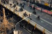 راهپیمایی در خیابانهای تهران به درگیری کشید؛ بازداشت تعدادی از شهروندان/عکس