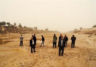 خشکی رودخانه زهره، منشأ گرد و غبار در استان خوزستان