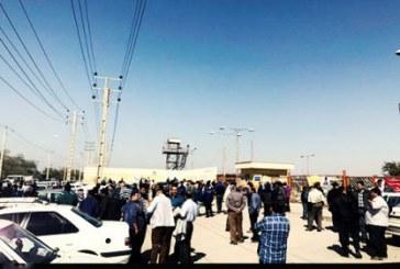 پانزدهمین روز اعتراض کارگران گروه ملی فولاد اهواز