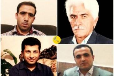 صدور حکم مجموعاً ۴۵ سال حبس و هشت سال تبعید برای چهار فعال مدنی