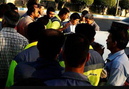 تجمع اعتراضی کارگران شهرداری اهواز برای دومین روز متوالی