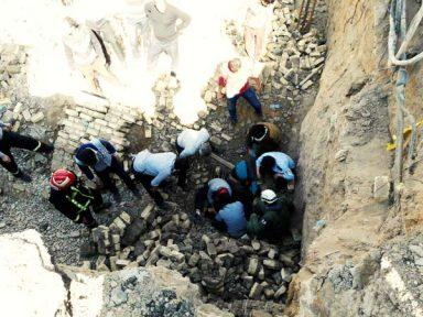 ریزش دیوار ساختمان در حال ساخت جان یک کارگر را گرفت