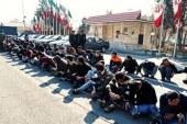 متهمان به سرقت پیش از محاکمه در تهران به نمایش گذاشته شدند/ تصاویر