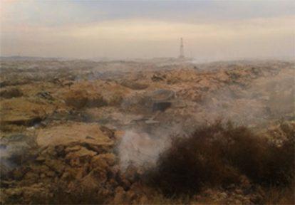 دود و گازهای سمی زبالهدان قدیمی اهواز همچنان هوا را آلوده میکند