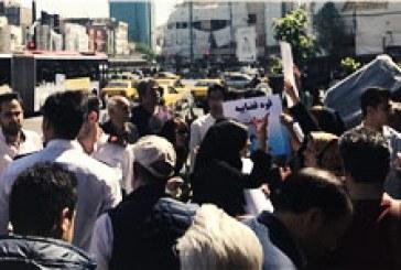 تجمع کارگران اخراجی کارخانههای قزوین همزمان با سفر روحانی