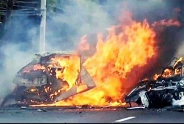 مرگ چهار نفر از کارکنان فرودگاهی مهرآباد براثر آتش سوزی خودرو