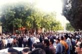 تجمع اعتراضی مردم خرم آباد به خیابان ها کشیده شد