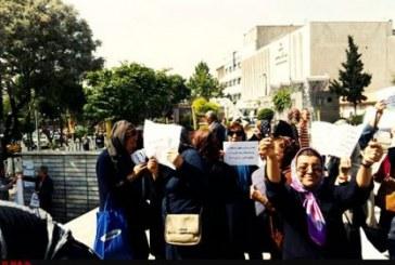 تجمع بازنشستگان فرهنگی در مقابل مجلس شورای اسلامی