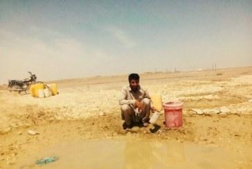 اهالی روستای گزاب از آب آشامیدنی محروماند/ گزارش تصویری