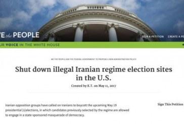 پتیشن کاخ سفید جهت «تعطیل کردن» حوزههای اخذ رأی جمهوری اسلامی در آمریکا