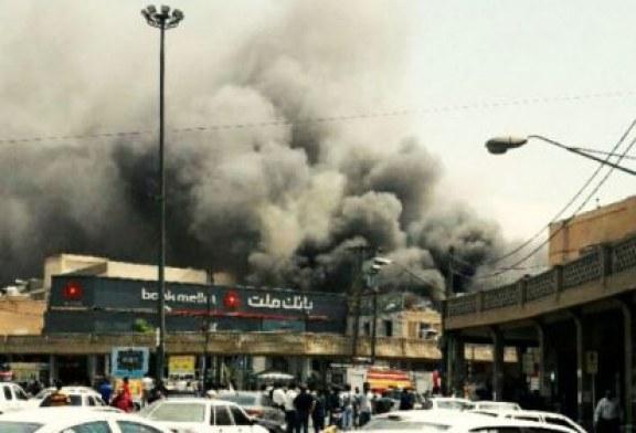 مصدوم شدن دستکم هشت آتشنشان اهوازی در حادثه آتشسوزی پاساژ رضوان
