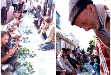 اعتراض کارگران دلفان به ۱۰ ماه حقوق معوق/سفره خالی کارگران در خیابان