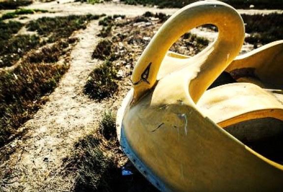کاهش آب خلیج گرگان و دریای خزر / گزارش تصویری