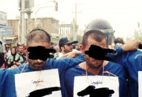 تحقیر و گرداندن تعدادی متهم در خیابانهای پاکدشت بدون محاکمه و اثبات اتهام
