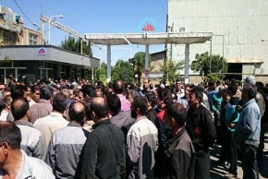 تجمع و اعتراض دوباره کارگران آذرآب اراک