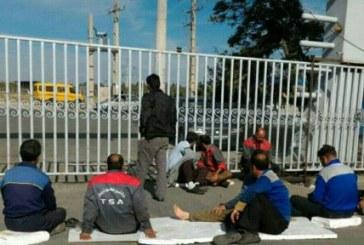 تجمع کارگران توسعه صنعت آذربایجان برای معوقات مزدی