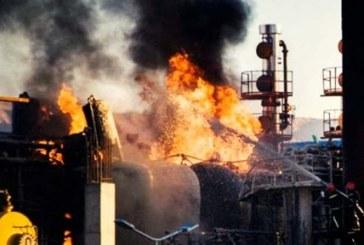 کشته و زخمی شدن دستکم ۱۰ تن به دنبال آتشسوزی در پالایشگاه نفت تهران