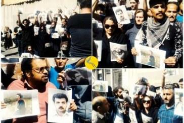 تجمع فعالین مدنی در مقابل مجلس در حمایت از سهیل عربی و سایر زندانیان سیاسی