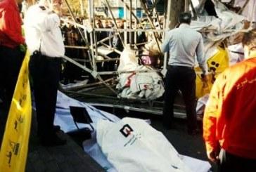 تبریز؛ مرگ یک کارگر زیر تابلوی تبلیغاتی