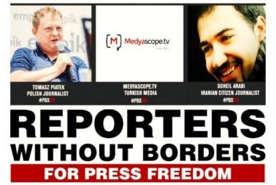 جایزه گزارشگران بدون مرز برای آزادی اطلاع رسانی به سهیل عربی اهدا شد