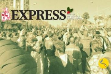 روزنامه اکسپرس لندن: «تظاهرات معترضان ایرانی با شعار 'مرگ بر روحانی' با برخورد نیروهای امنیتی روبهرو شد»