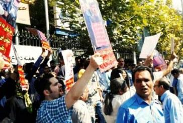 بازداشت همسر رضا شهابی و دستکم ۵۰ تن از فعالین مدنی مقابل وزارت کار/ آزادی با اخذ تعهد